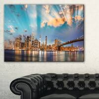 Dramatic Sky Over Manhattan City - Cityscape Canvas print - Multi-color