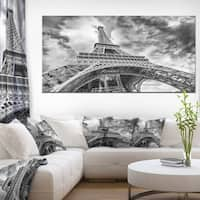 Black and White View of Paris Eiffel Tower  - Cityscape Canvas print