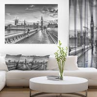 Beautiful Black and White London View - Cityscape Canvas print