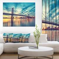 Ben Franklin Bridge in Philadelphia - Cityscape Canvas print - Multi-color