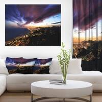 Skyline Panorama - Cityscape Artwork Canvas - Multi-color