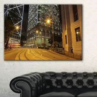 Busy Traffic and City at Night  - Cityscape Artwork Canvas