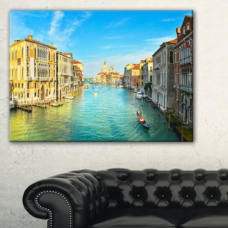 Vibrant Evening Venice Italy  - Cityscape Artwork Canvas