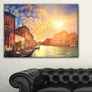 Majestic Sunset over Venice - Cityscape Artwork Canvas