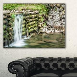 Fabulous Man-made Waterfall - Landscape Wall Art Canvas Print
