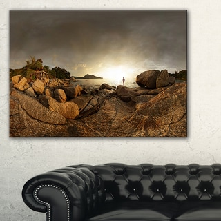 Brown Rocky Forest Panorama - Landscape Wall Art Canvas Print
