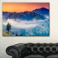 Fantastic Blue Mountains Panorama - Landscape Wall Art Canvas Print - Green