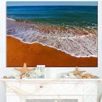Seashore Summer White Waves - Modern Beach Canvas Art Print