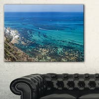 White Tip Agrigento in Sicily Italy - Landscape Print Wall Artwork - Blue