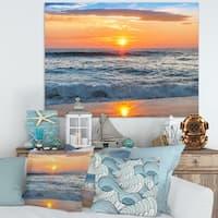 Beautiful Sunrise over the Horizon. - Modern Beach Canvas Art Print