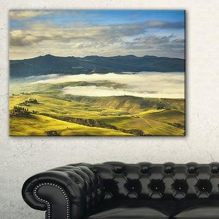 Tuscany Farmland and Green Fields - Oversized Landscape Wall Art Print