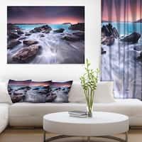 Fascinating View of Rocky Coast - Seashore Canvas Wall Art