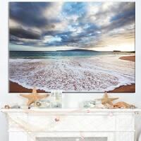 Deep Seashore with Clouds and Waves - Seashore Canvas Wall Art