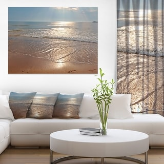 Tranquil Seashore with Crystal Waters - Seashore Canvas Wall Art