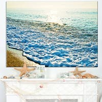 Bright Blue Tranquil Seashore - Beach Canvas Wall Art