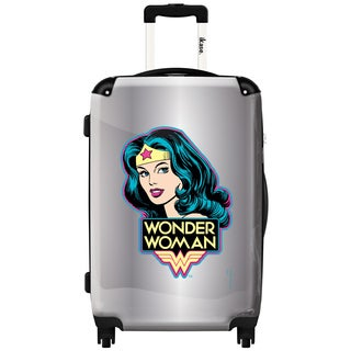 iKase 'Silver Wonder Woman' 24-inch Fashion Hardside Spinner Suitcase