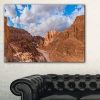 White Canyon at South Sinai Egypt - Landscape Art Canvas Print - Brown