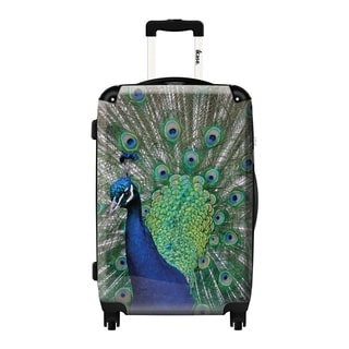 iKase 'Blue Peacock' 24-inch Fashion Hardside Spinner Suitcase