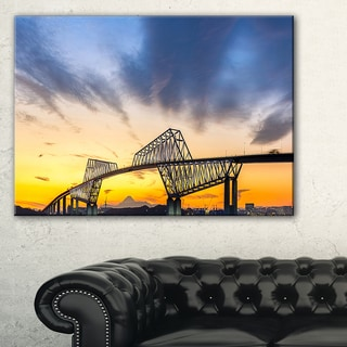 Tokyo Gate Bridge Panorama - Landscape Artwork Canvas