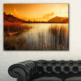Calm Evening with Lake and Mountains - Landscape Artwork Canvas
