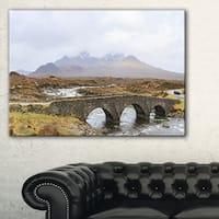 Sligachan Old Bridge Panorama - Landscape Artwork Canvas - Multi-color
