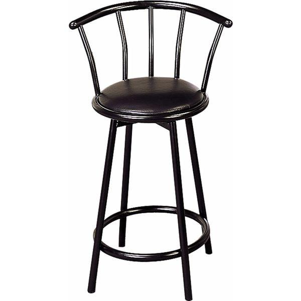 Shop Coaster Company Black Satin Black 24 Inch Swivel Bar Stool