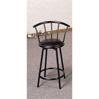Coaster Company Black Satin Black 24-Inch Swivel Bar Stool