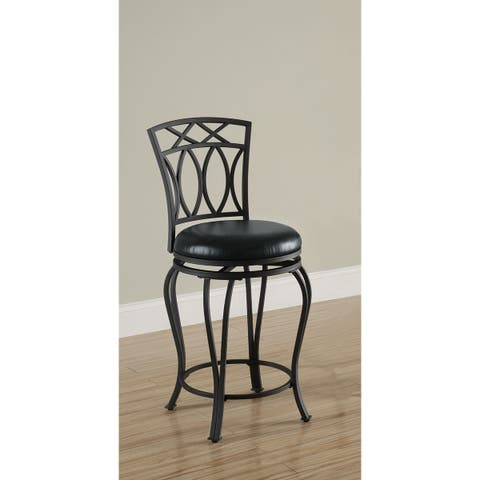 Copper Grove Oxtongue Black Metal Barstool