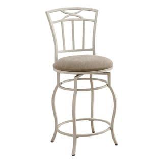 Coaster Company White Metal Barstool