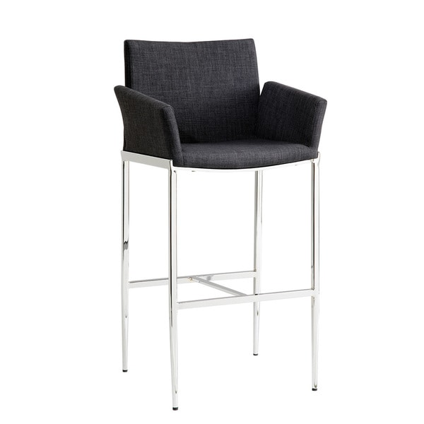 Coaster Company Grey Fabric Bar Stool