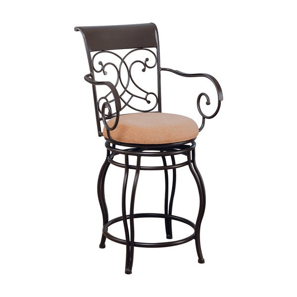 Coaster Company Dark Brown Metal Bar Stool