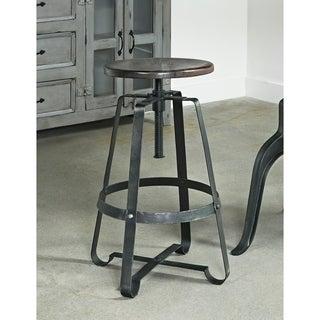 Somette Iron and Wood Adjustable Barstool