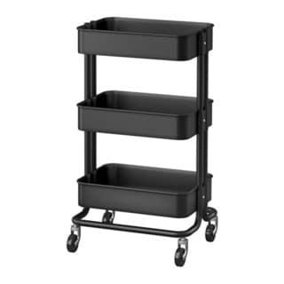 RASKOG Home Kitchen Storage Utility cart - Black