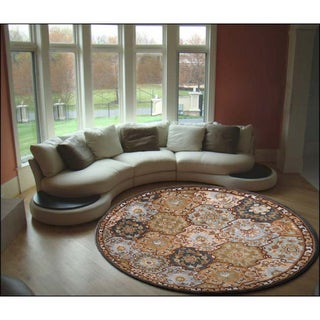 Hand-Tufted Coliseum Wool Rug (9'9 Round)