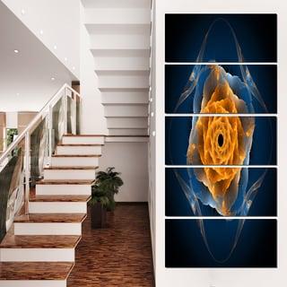 Blue Nautilus Shell Pattern - Abstract  Art Canvas Print