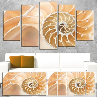 Brown Nautilus Shell Pattern - Abstract  Art Canvas Print