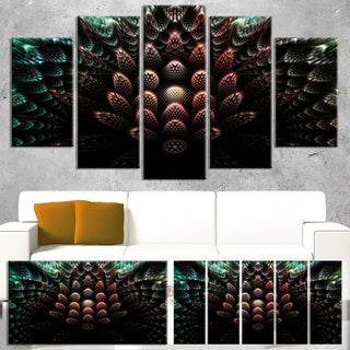 Fractal 3D Flower Fantasy - Abstract  Art Canvas Print