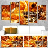 Shiny Orange Gold Foil - Abstract  Art Canvas Print
