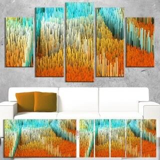Macro Render Structure Yellow Orange - Art Canvas Print