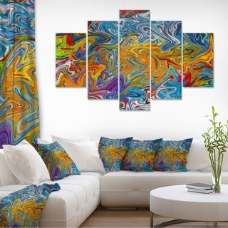 Fractal Flowing Colors - Abstract Art Canvas Print