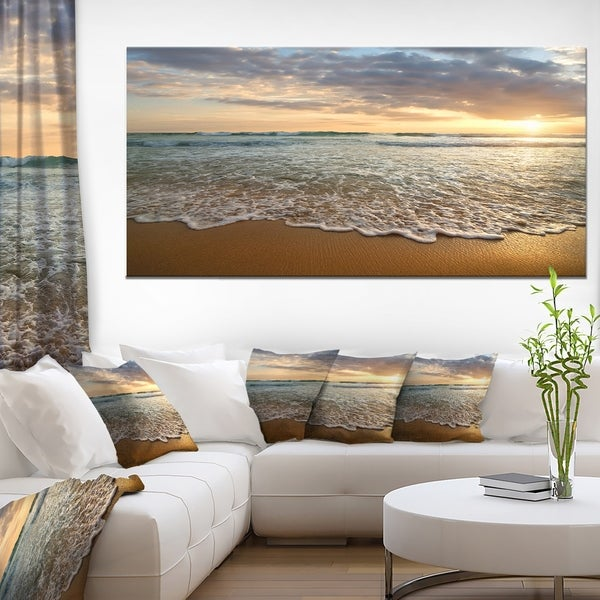 Bright Cloudy Sunset In Calm Ocean by Design Art