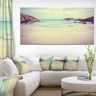 Vintage Style Seashore Thailand - Extra Large Seascape Art Canvas