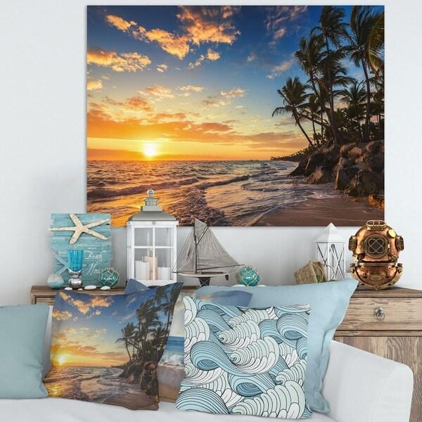 Tropical Island Paradise: Shop Paradise Tropical Island Beach With Palms