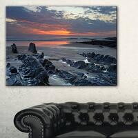 Woolacombe North Devon Sunset - Extra Large Seascape Art Canvas