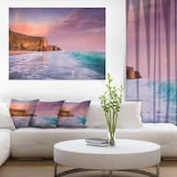 Beautiful Paradise Sunset - Extra Large Seascape Art Canvas