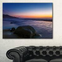 Dark Tropical Seashore in Evening - Extra Large Seascape Art Canvas