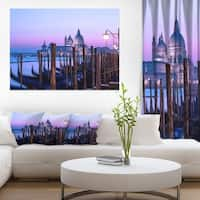 Venice Sunset Panorama at Twilight - Extra Large Seascape Art Canvas