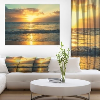 Exotic Water and Sky Sunset Panorama - Modern Seashore Canvas Art