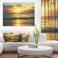 Exotic Water and Sky Sunset Panorama - Modern Seashore Canvas Art