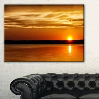 Day and Night Seascape Panorama - Modern Seashore Canvas Art
